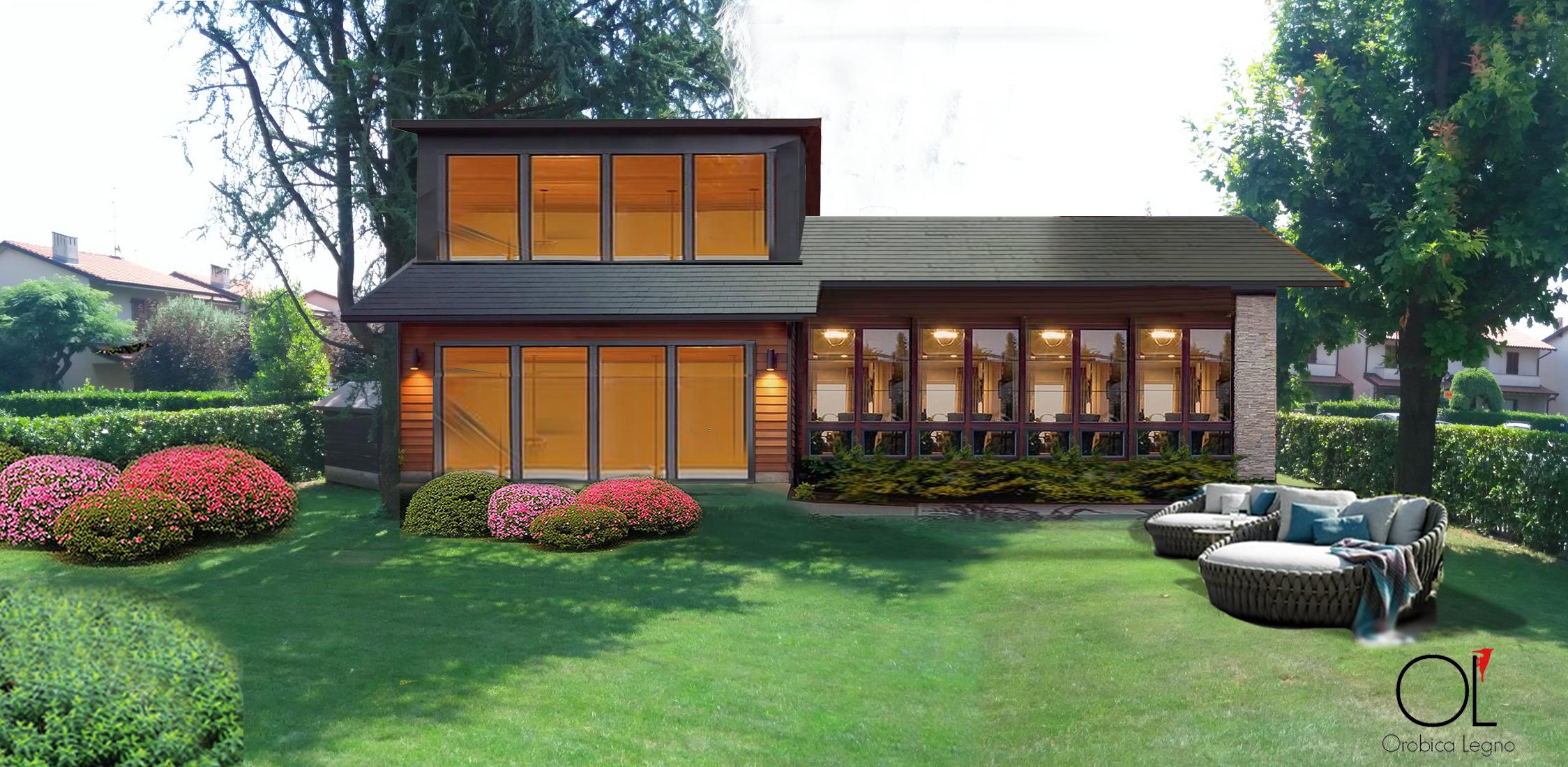 Home standard orobica legno for Come ottenere un prestito di terreni per costruire una casa
